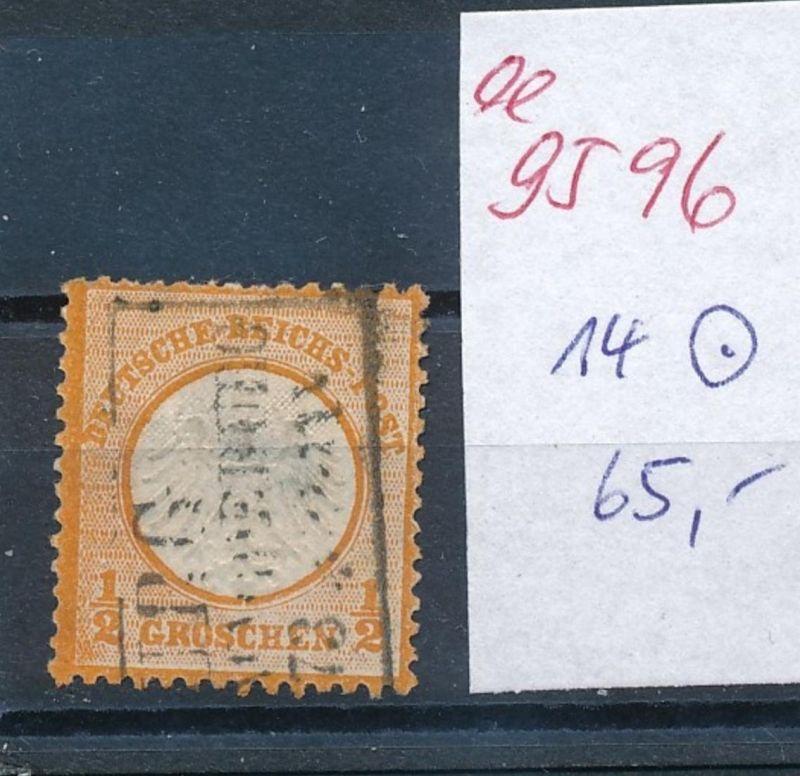 D.-Reich Nr. 14   o   (ee9596   ) siehe scan vergrößert !