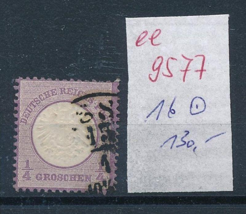 D.-Reich Nr. 16 o   (ee9577   ) siehe scan vergrößert !