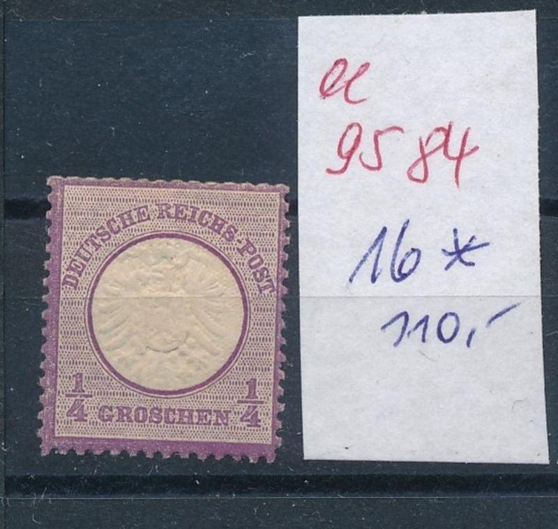 D.-Reich Nr. 16 *   (ee9584   ) siehe scan vergrößert !