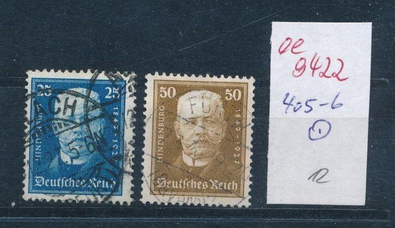 D.-Reich Nr. 405-6   (ee9422   ) siehe scan vergrößert !