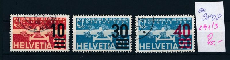 Schweiz  Nr.  291-3  o  (ee9808  ) siehe scan