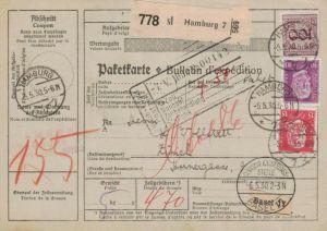 Paketkarte  - Ausland-BEDARF Erhalt  ( br1473  ) siehe scan
