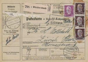 Paketkarte  - Ausland-BEDARF Erhalt  ( br1497  ) siehe scan