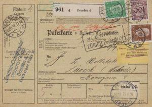 Paketkarte  - Ausland-BEDARF Erhalt  ( br1521  ) siehe scan