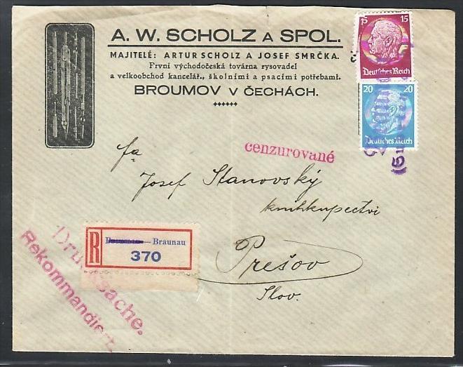 Bedarfsbrief Landpost Braunau -zensur  (zz4356 ) siehe scan  !!