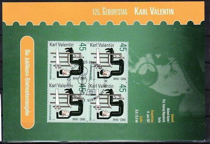 BRD  Karl Valentin Gedenkblatt    ( zz278 ) siehe scan