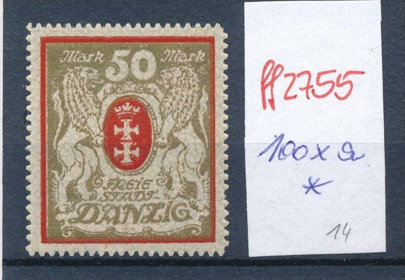 Danzig Nr. 100 xa   *    (ff2755 ) siehe scan vergrößert !