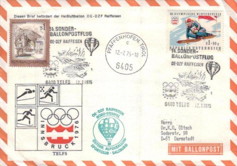 Ballon- Post netter Sammler-Beleg  ( br1270  ) siehe scan