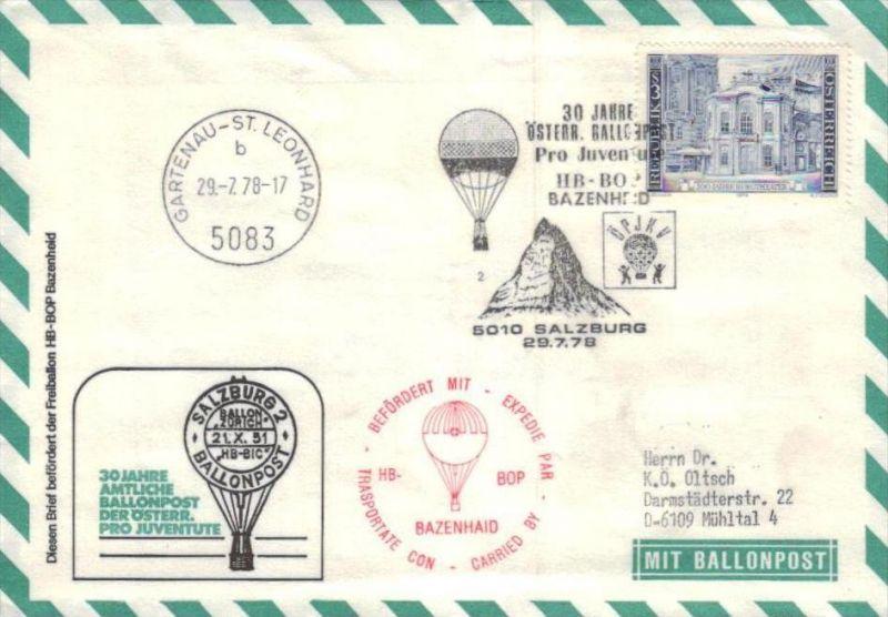 Ballon- Post netter Sammler-Beleg  ( br1241   ) siehe scan