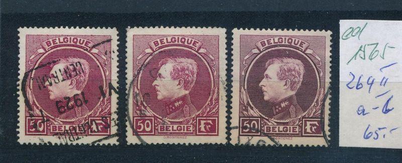 Belgien Nr. 264 a-c II  (ed1565  ) siehe scan