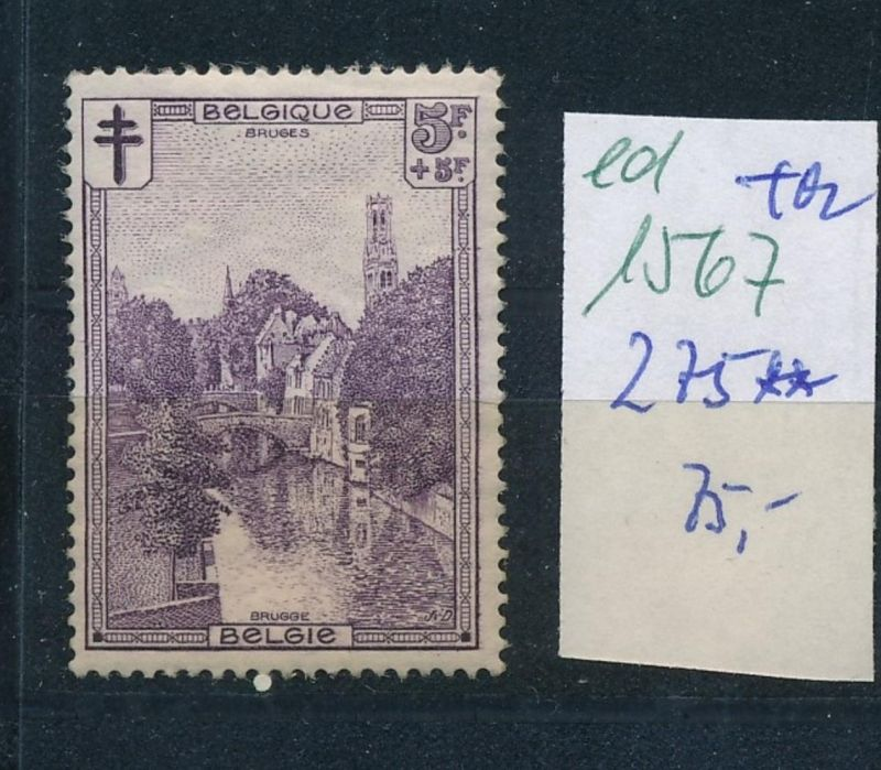 Belgien Nr. 275  **  (ed1567  ) siehe scan