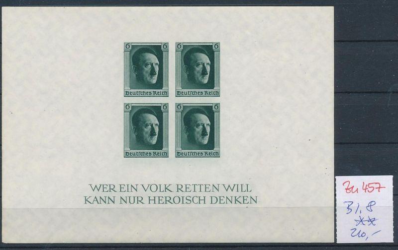 D.-Reich Nr.  Block 8  **   (zu457  ) siehe scan