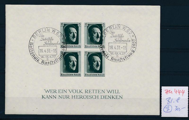 D.-Reich Nr.  Block 8  o   (zu444  ) siehe scan