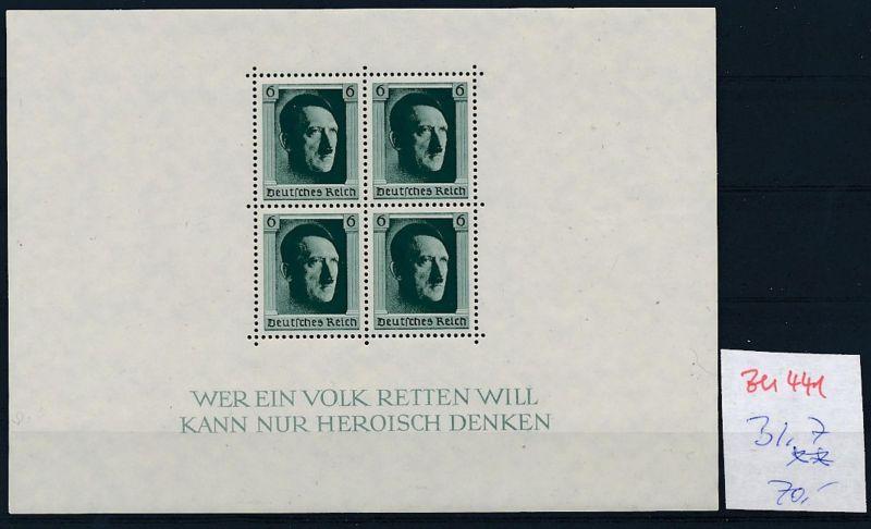 D.-Reich Nr.  Block 7  **  (zu441  ) siehe scan