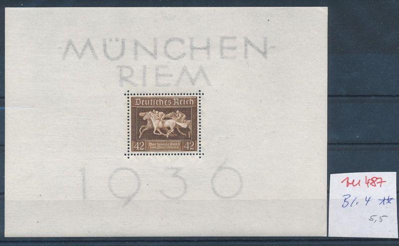 D.-Reich Nr.  Block 4  **  (zu487  ) siehe scan