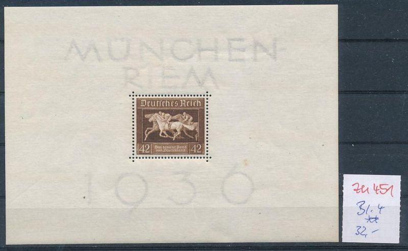 D.-Reich Nr.  Block 4  **  (zu451  ) siehe scan