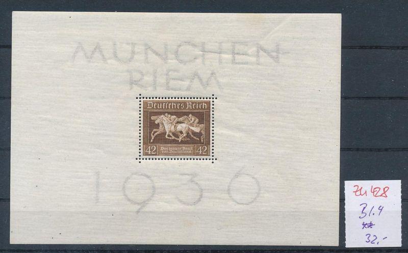 D.-Reich Nr.  Block 4  **  (zu428  ) siehe scan