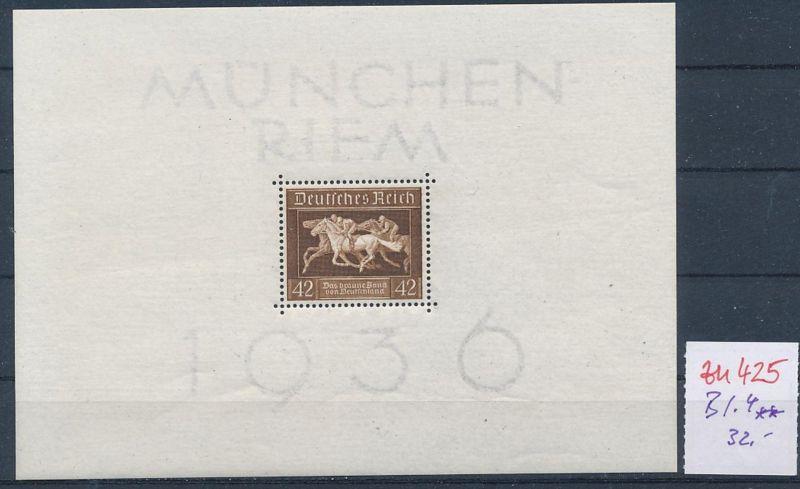 D.-Reich Nr.  Block 4  **  (zu425  ) siehe scan