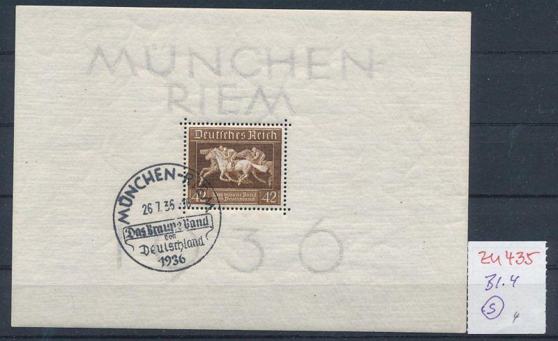 D.-Reich Nr.  Block 4  o  (zu435  ) siehe scan
