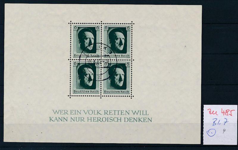 D.-Reich Nr.  Block 7  o  (zu485  ) siehe scan