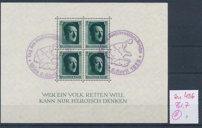 D.-Reich Nr.  Block 7  o  (zu436  ) siehe scan