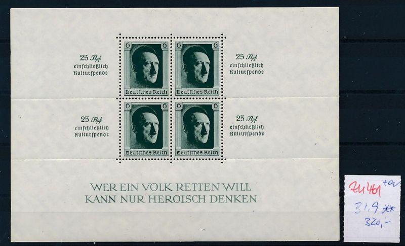 D.-Reich Nr.  Block  9 **   (zu461 ) siehe scan
