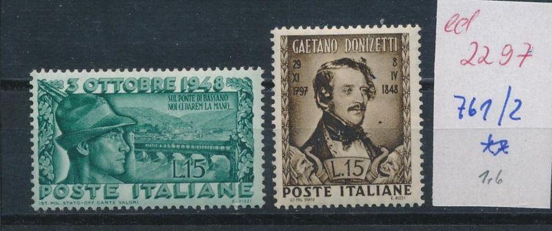 Italien Nr. 746-7  **     (ed2297   ) siehe scan 0