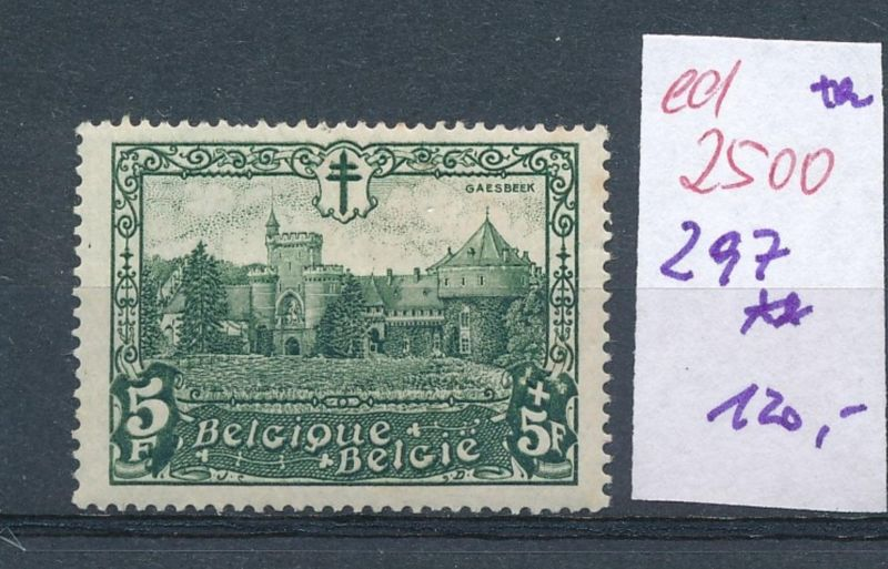 Belgien Nr. 297  **    (ed2500  ) siehe scan