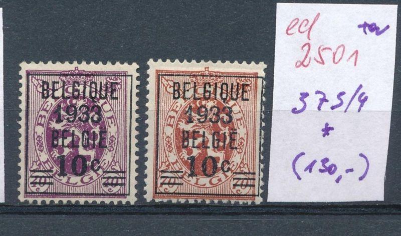 Belgien Nr. 373-4 *    (ed2501  ) siehe scan