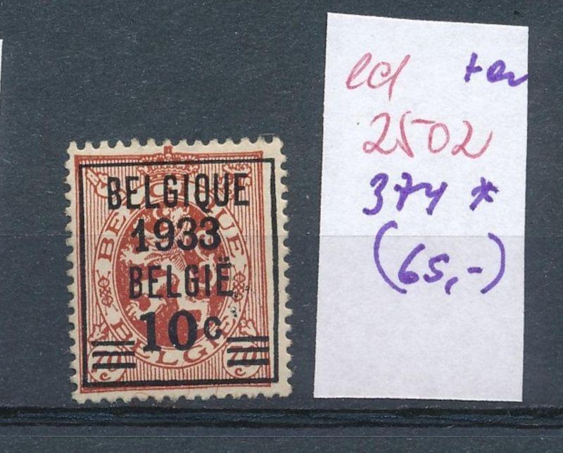 Belgien Nr. 374 *    (ed2502  ) siehe scan