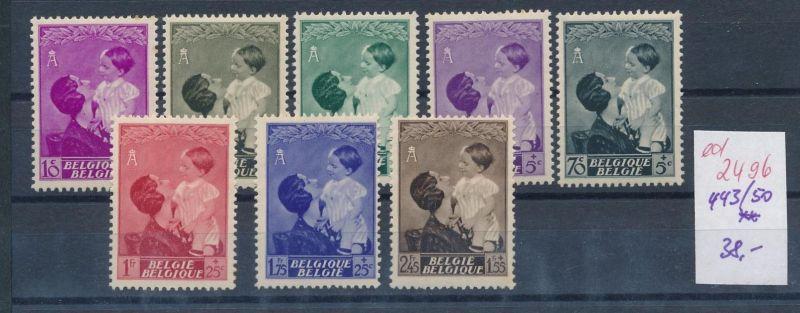 Belgien Nr. 443-50 **   (ed2496  ) siehe scan
