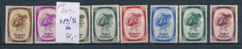 Belgien Nr. 489-96  **   (ed2490  ) siehe scan