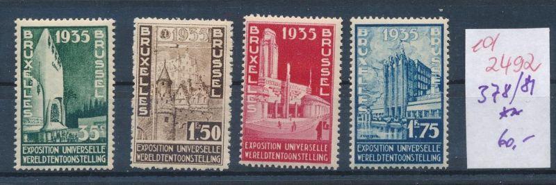 Belgien Nr. 378-81  **   (ed2492  ) siehe scan