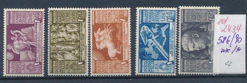 Italien Nr. 586-90   **/*   (ed2434  ) siehe scan