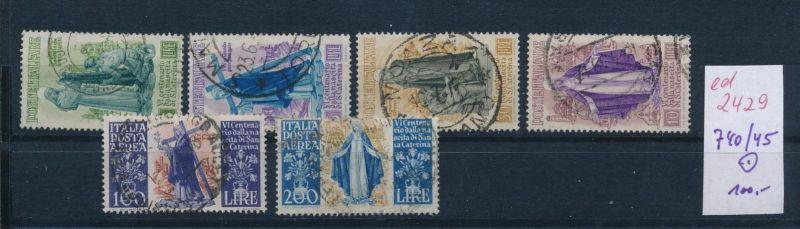 Italien Nr. 740-45   o    (ed2429  ) siehe scan