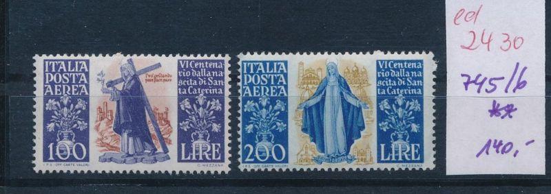 Italien Nr. 745-6 **   (ed2430  ) siehe scan