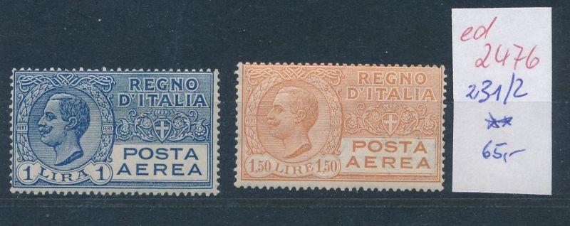 Italien Nr. 231-2  **   (ed2476  ) siehe scan