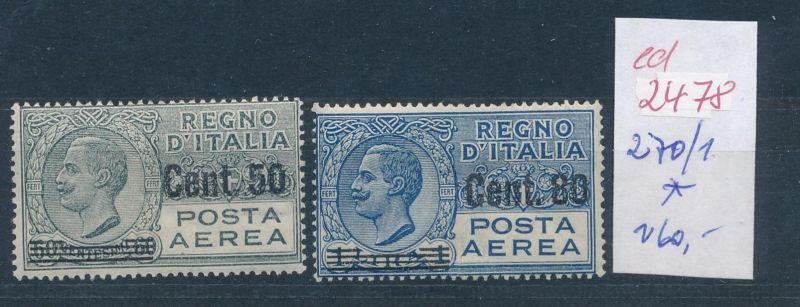 Italien Nr. 270-1 *   (ed2478  ) siehe scan