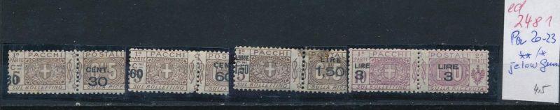 Italien Nr. Paket   20-23  *   (ed2481  ) siehe scan