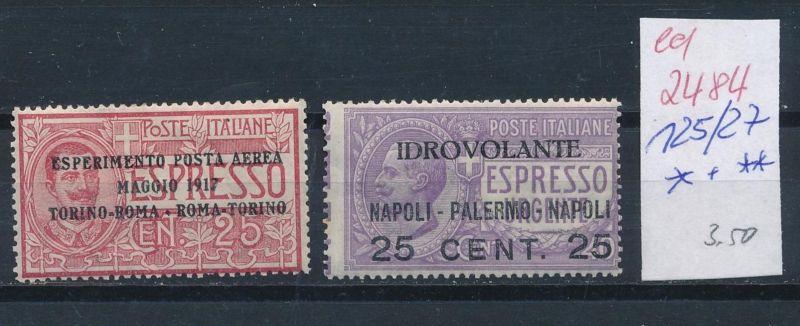Italien Nr. 126+27 *+**   (ed2484  ) siehe scan