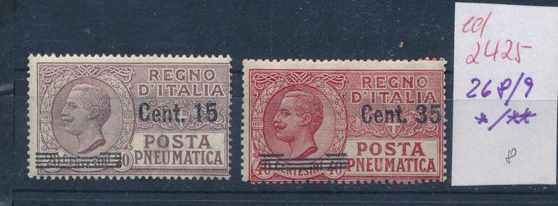 Italien Nr. 268-9  */ **   (ed2425  ) siehe scan