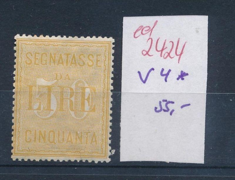 Italien Nr.  V 4 *   (ed2424  ) siehe scan