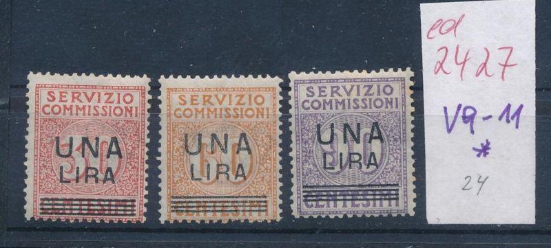 Italien Nr.  V 9-11 *      (ed2427  ) siehe scan