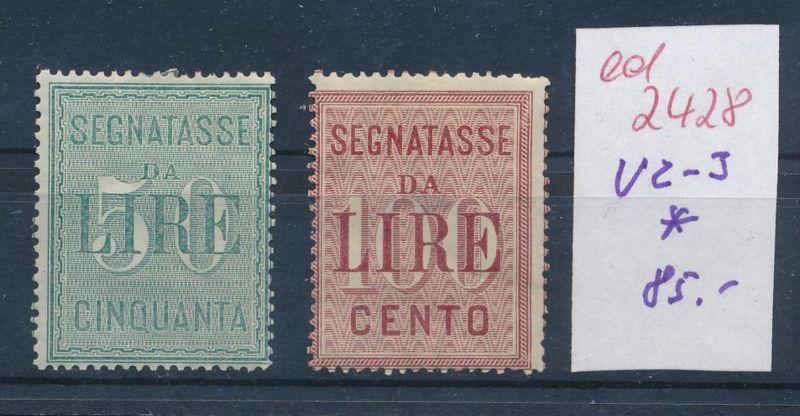 Italien Nr.  V 2-3 *      (ed2428  ) siehe scan