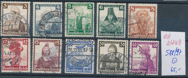 D.-Reich Nr. 588-97   o  (ed2449  ) siehe scan
