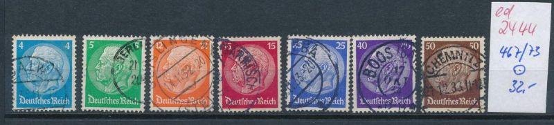 D.-Reich Nr. 467-73   o  (ed2444  ) siehe scan