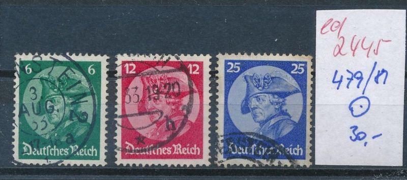 D.-Reich Nr. 479-81   o  (ed2445  ) siehe scan