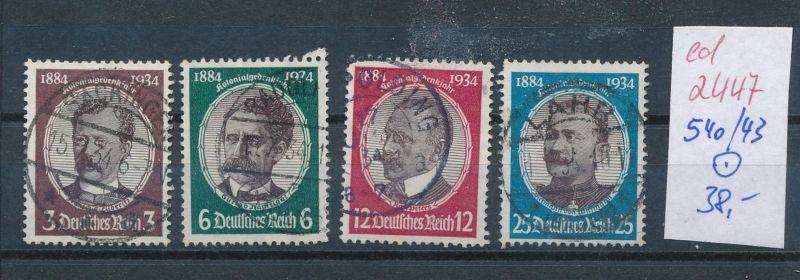 D.-Reich Nr. 540-43    o  (ed2447  ) siehe scan
