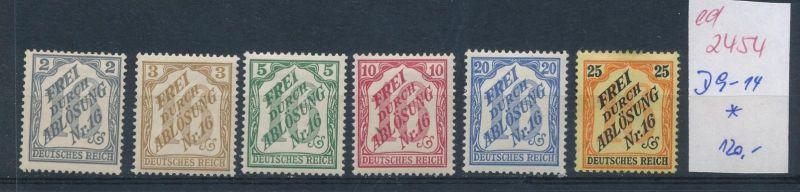 D.-Reich Nr.  D 9-14    *  (ed2454  ) siehe scan