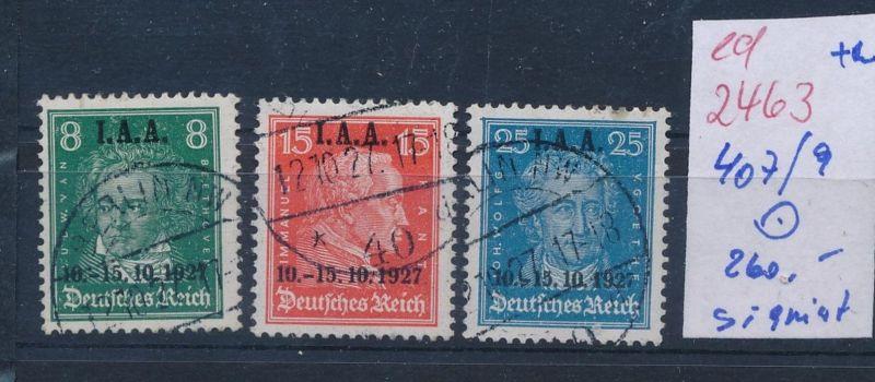 D.-Reich Nr.  407-9  o  (ed2463  ) siehe scan